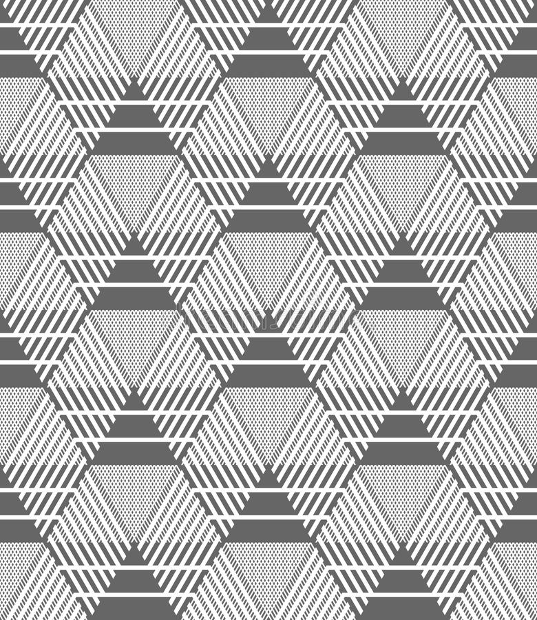 Hexagones sans couture, diamants et modèle de triangles illustration stock