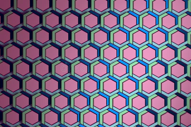 Hexagones structurés roses illustration libre de droits