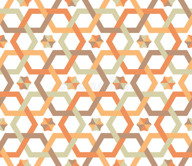 Hexagones superposants - configuration sans joint illustration libre de droits