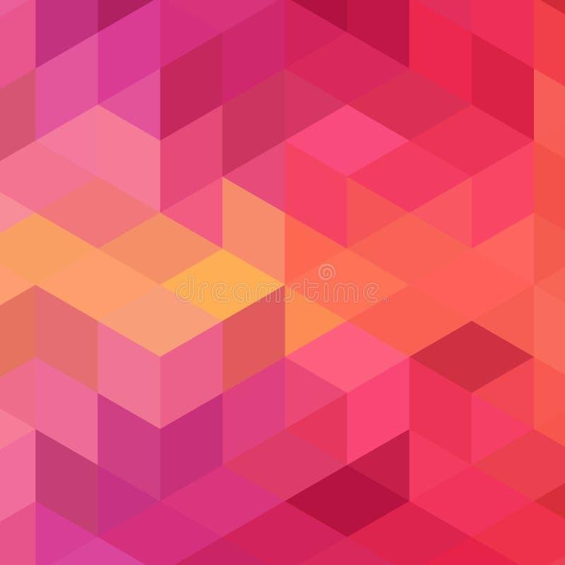 Hexagonmaschen-Vektorhintergrund Geometrischer Entwurf stilisierte Polygone Modisches Muster von sechseckigen Farben f?r Fahne od lizenzfreie abbildung