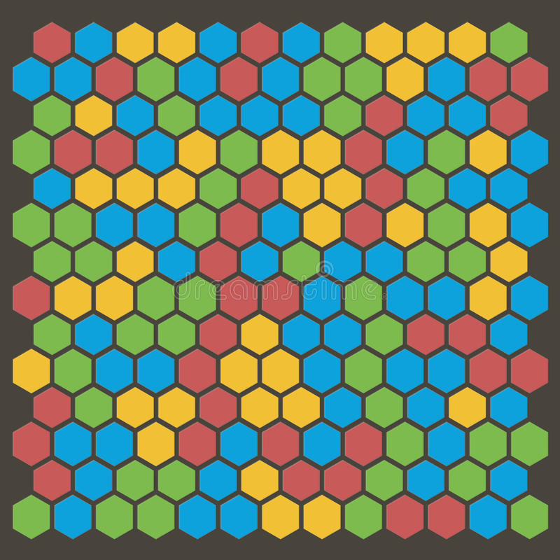 Hexagonmuster stock abbildung