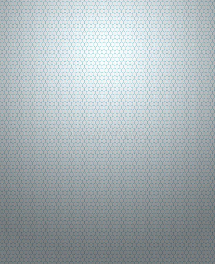 Hexagonmuster auf dem grauen Hintergrund lizenzfreie stockbilder
