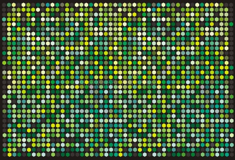 hexagons ανασκόπησης απεικόνιση αποθεμάτων
