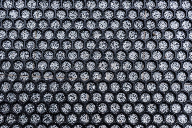 Hexagons πλέγμα πέρα από την πέτρα στοκ φωτογραφίες με δικαίωμα ελεύθερης χρήσης