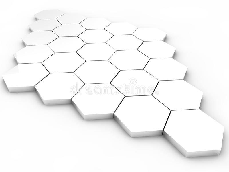 Download Hexagons stock illustration. Image of example, design - 26628885