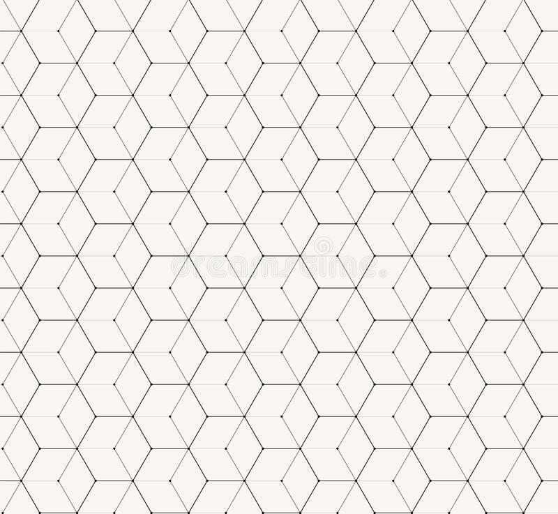 Hexagons gray vector simple seamless pattern. Background royalty free illustration