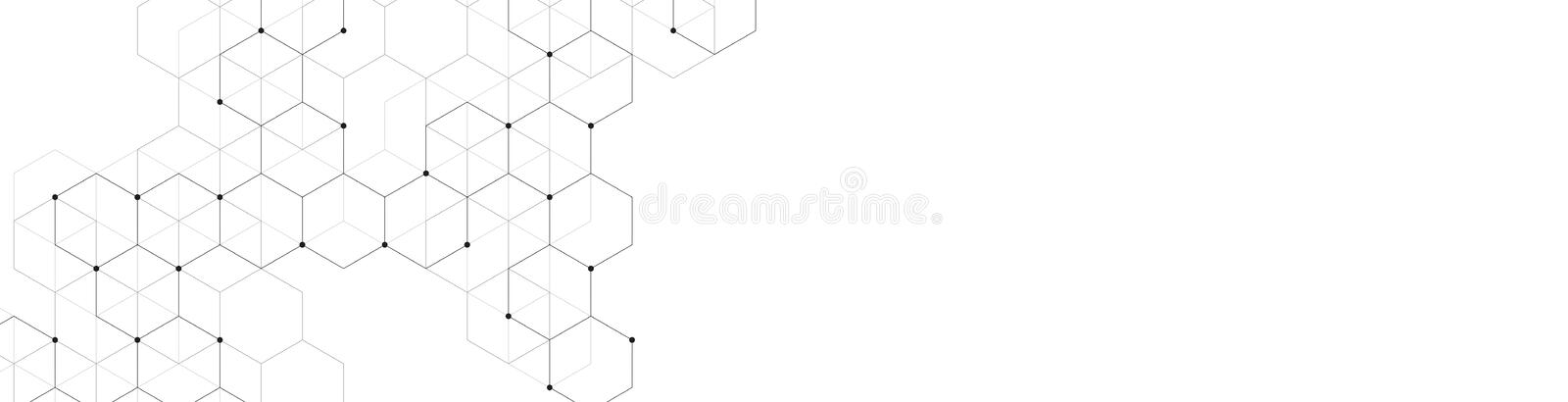 Hexagons pattern. Geometric abstract background with simple hexagonal elements. Medical, technology or science design. Hexagons pattern. Geometric abstract vector illustration