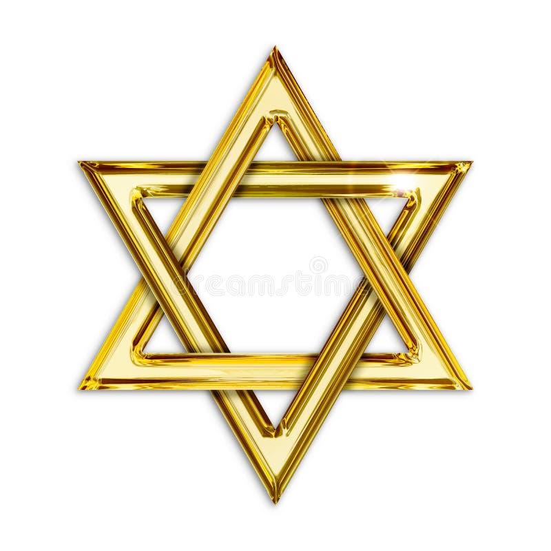 Hexagram d'or illustration de vecteur