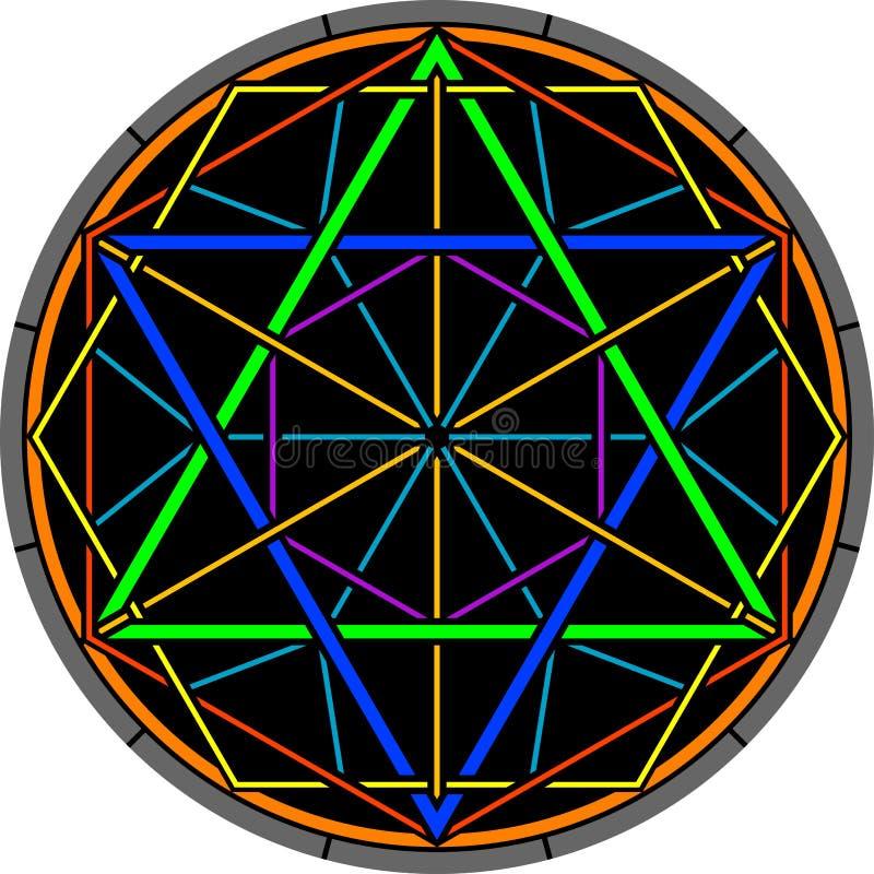 Hexagram de magie de couleur illustration libre de droits