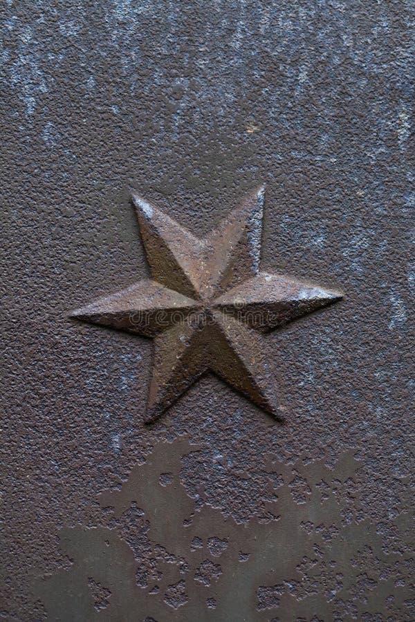 Hexagram do molde do ferro Elemento arquitectónico decorativo imagem de stock royalty free