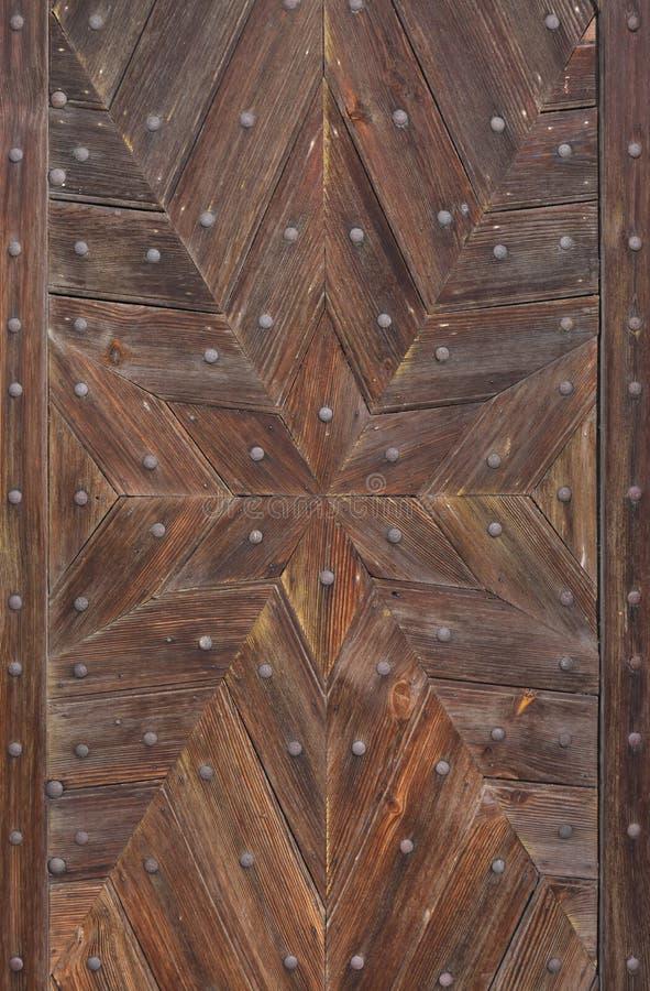 Hexagram formado de tablones de madera Textura del fondo foto de archivo libre de regalías