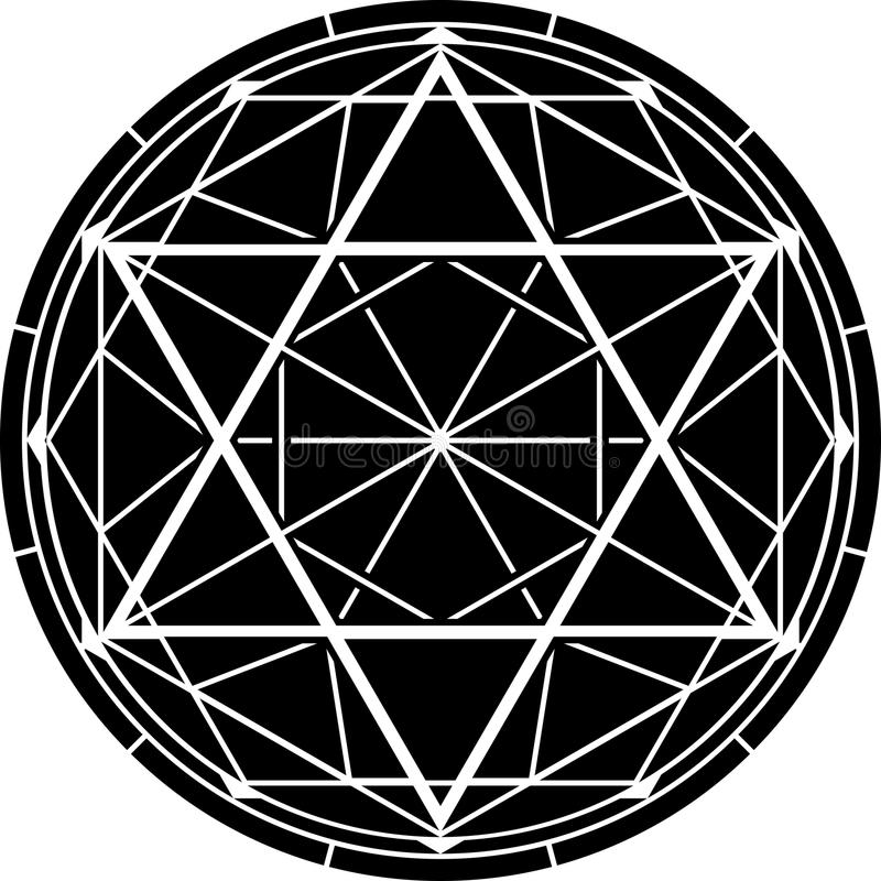 hexagram Illustrazione di vettore fotografia stock