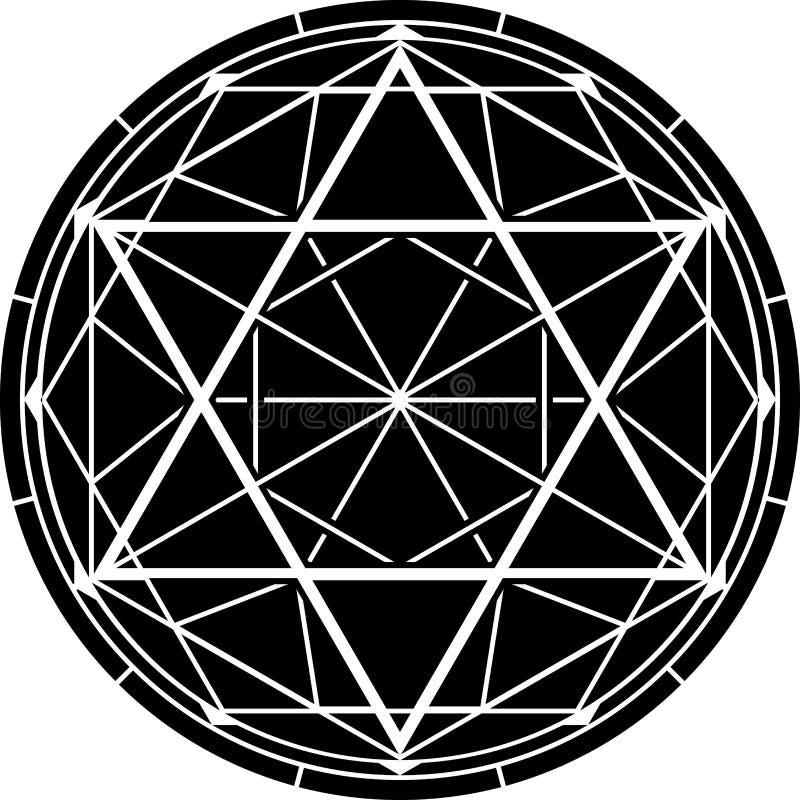 hexagram också vektor för coreldrawillustration arkivfoto