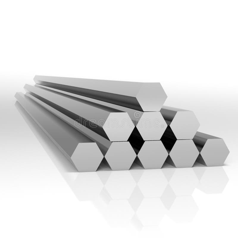Hexahedron delle barre di metallo illustrazione vettoriale