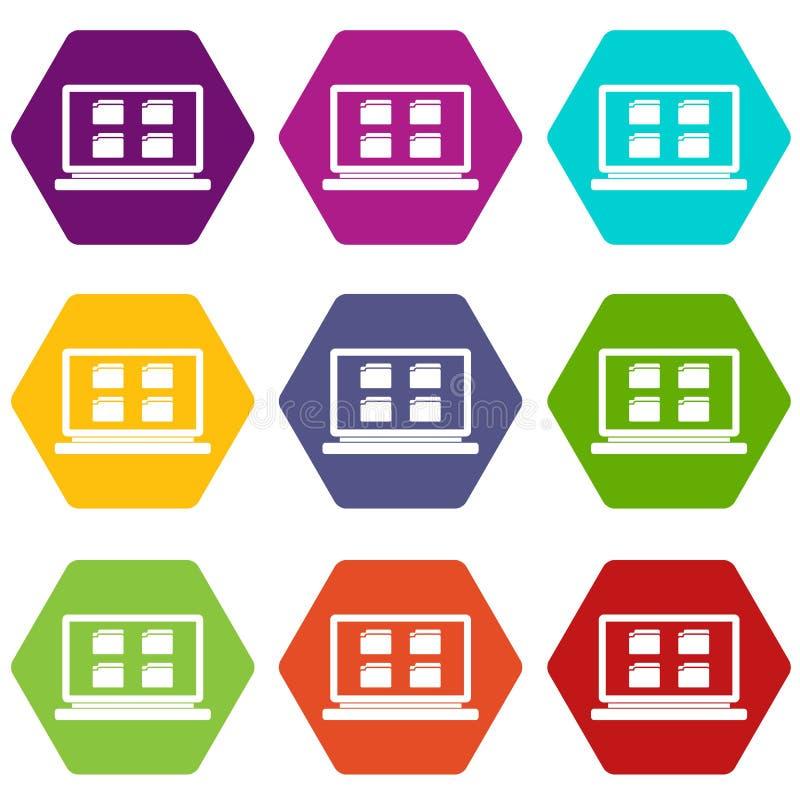 Download Hexahedron Determinado Del Color Del Icono De Escritorio Ilustración del Vector - Ilustración de negocios, fichero: 100526647