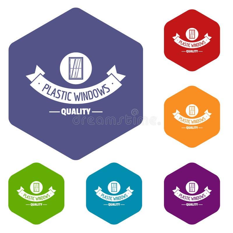 Hexahedron material del vector de los iconos de la calidad libre illustration