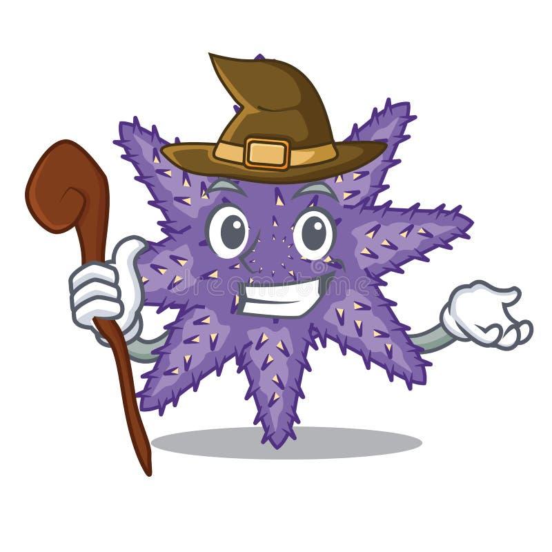 Hexe purpurrote Starfish in der Zeichenform stock abbildung