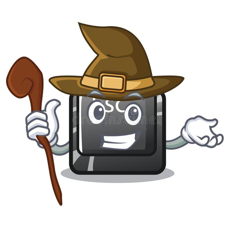 Hexen-ESC-Knopf befestigt zur Karikaturtastatur lizenzfreie abbildung