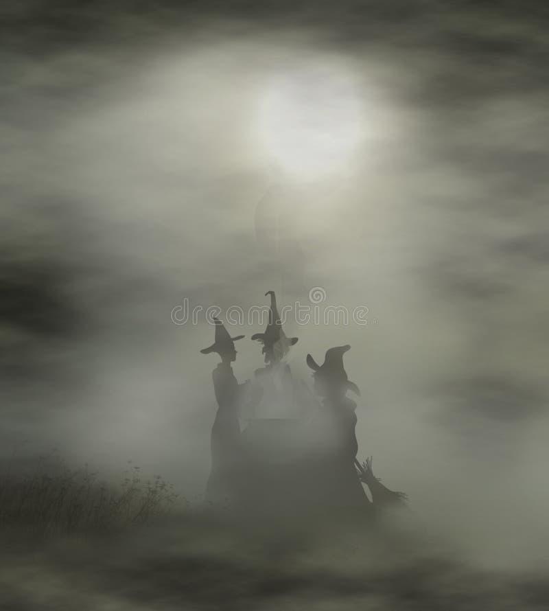 Hexen-großer Kessel stock abbildung