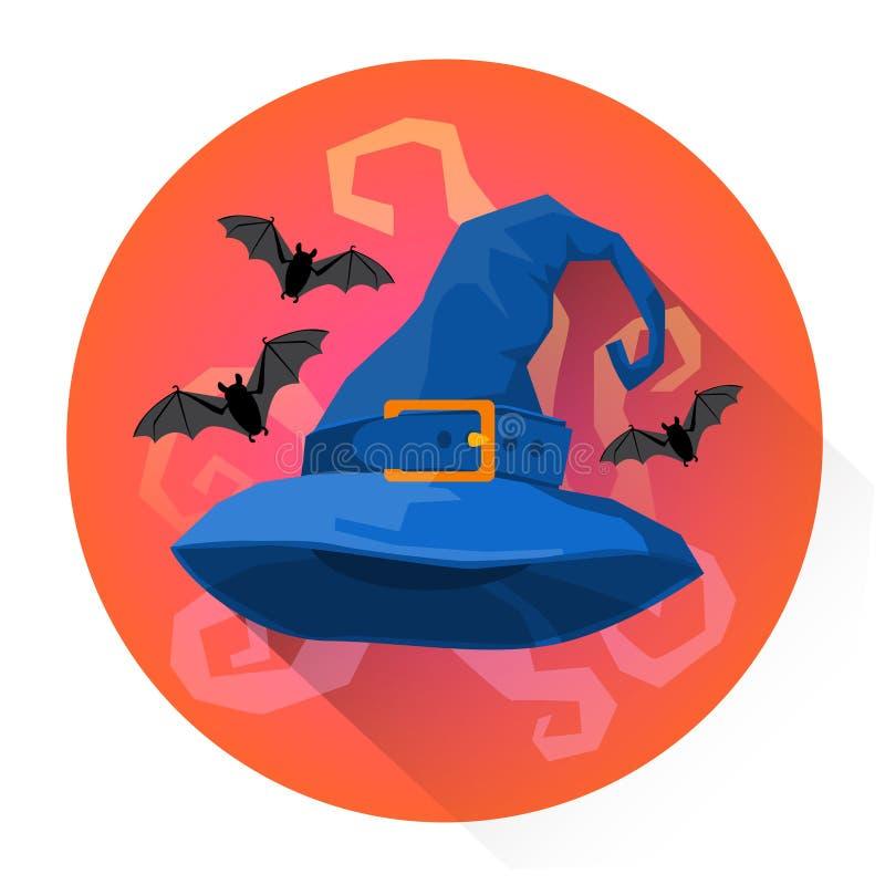 Hexen-Hut-Kostüm-Halloween-Feiertags-Ikone lizenzfreie abbildung