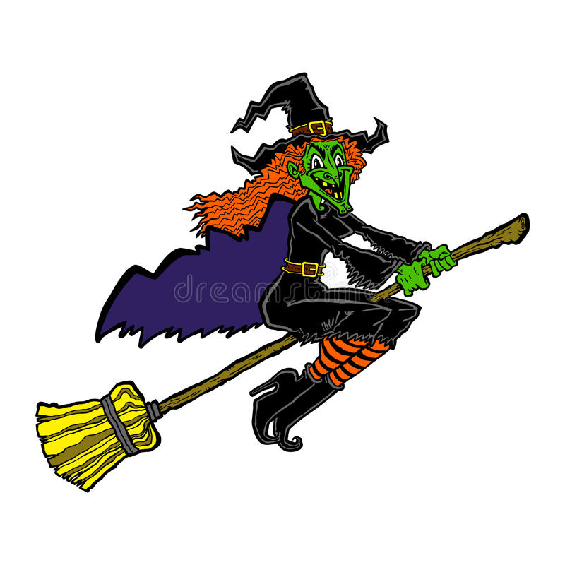 Hexen-Karikatur lizenzfreie abbildung