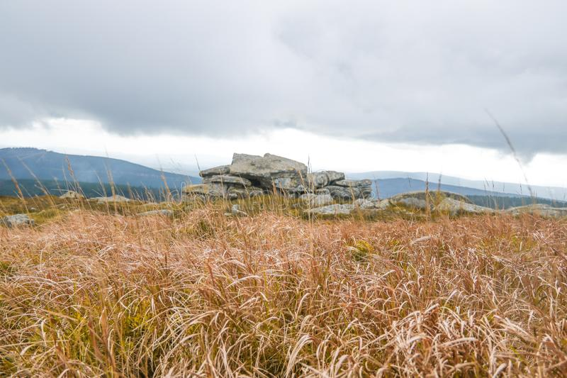 Hexenaltar na parte superior de Brocken, Harz imagens de stock royalty free