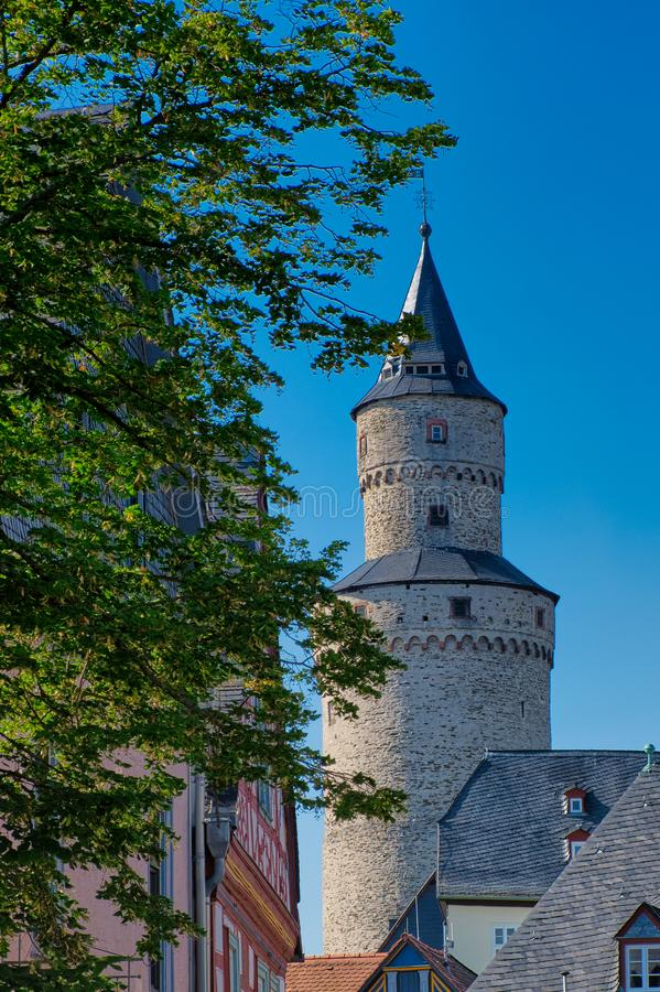 Hexenturm - witches tower, the landmark of Idstein, Germany. Hexenturm -witches tower- a landmark in Idstein, Germany stock image
