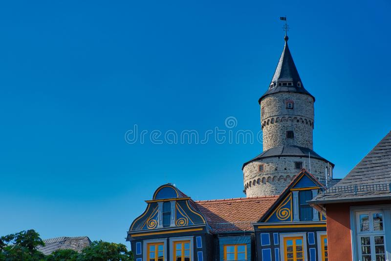 Hexenturm - witches tower, the landmark of Idstein, Germany. Hexenturm -witches tower- a landmark in Idstein, Hesse, Germany royalty free stock photos