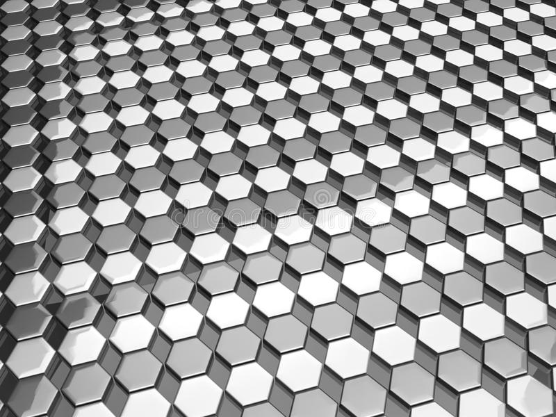 Hexgon pattern silver background stock photo