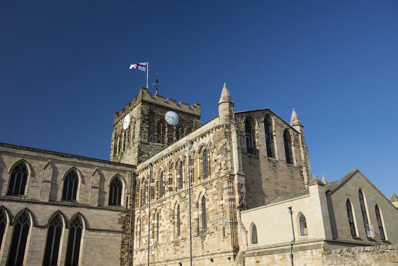 Hexham, Northumberland, Reino Unido, o 9 de maio de 2016, a abadia hist?rica de Hexham fotografia de stock