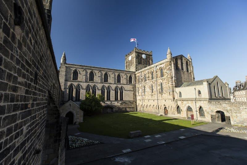 Hexham, Northumberland, Zjednoczone Kr?lestwo, 9th 2016 Maj historyczny Hexham opactwo fotografia stock