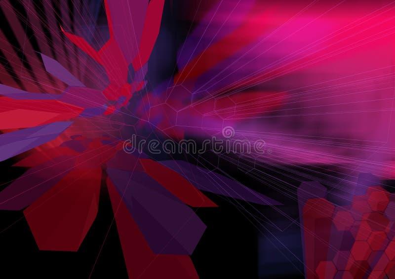 HexZoom1 wireframe - eine Serie stock abbildung