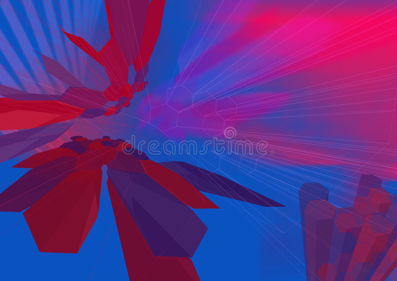 HexZoom3 wireframe - eine Serie lizenzfreie abbildung