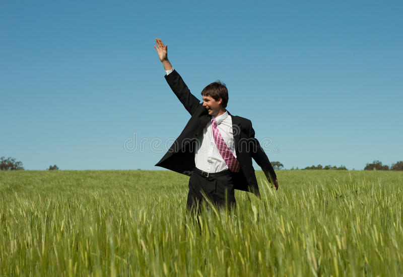 Download Hey! stock photo. Image of clear, field, green, person - 15957516