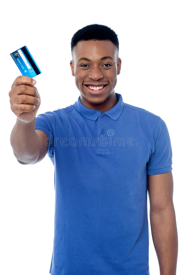 Hey, is dit uw contant geld kaart? royalty-vrije stock afbeeldingen