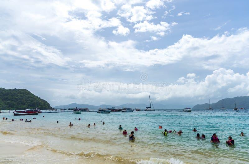 Hey encanto da ilha do mar em Phuket, Tailândia fotografia de stock