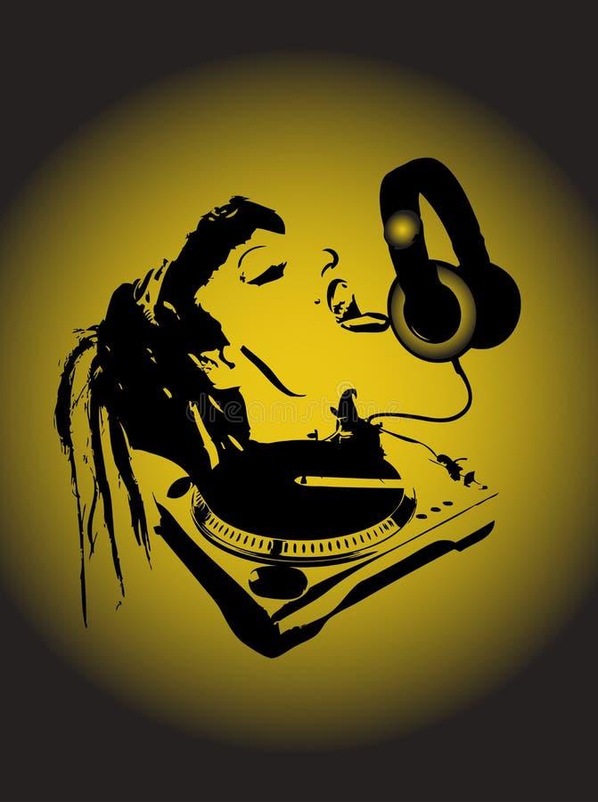 Hey il DJ royalty illustrazione gratis