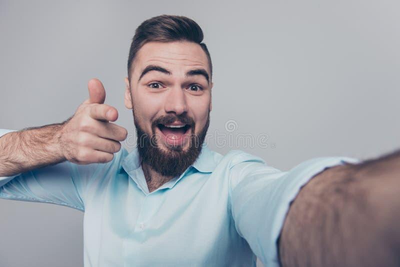 Hey lá de como está você acima retrato próximo da foto do estúdio confie foto de stock royalty free