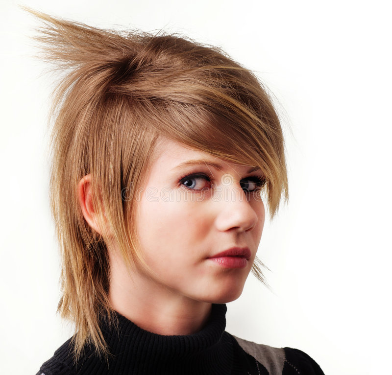 Hey look I got a New funky hair style stock photo