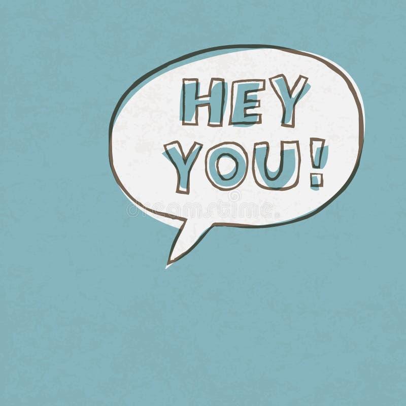 Hey u! Uitroepwoorden royalty-vrije illustratie