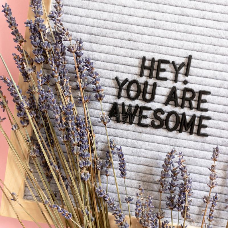 Free Hey You Are Awesome Stock Photo - 161651020