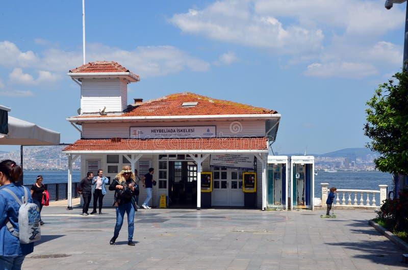Heybeliada Pier Princes Islands stock photos