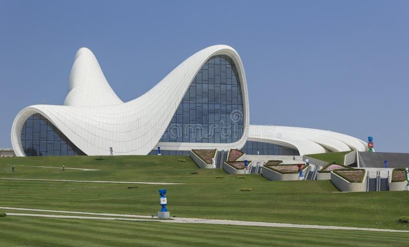 Heydar Aliyev Center à Bakou image stock