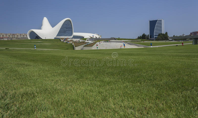 Heydar Aliyev Center in Baku royalty-vrije stock afbeeldingen