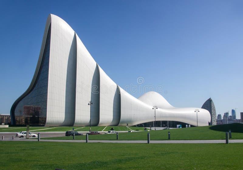 Heydar Aliyev Center building complex in Baku, Azerbaijan designed by Iraqi-British architect Zaha Hadid in Baku, Azerbaijan royalty free stock image