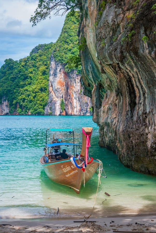 Bay of Koh Lao La Ding island, Krabi stock photography