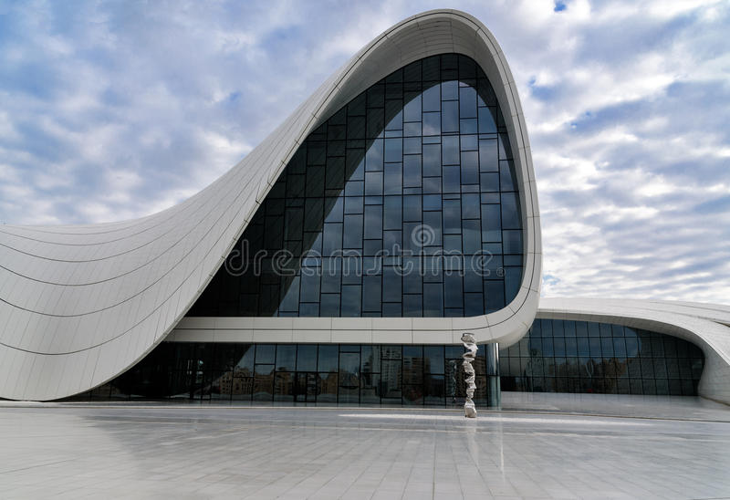 Heydar Aliyev centrum w Baku obrazy royalty free