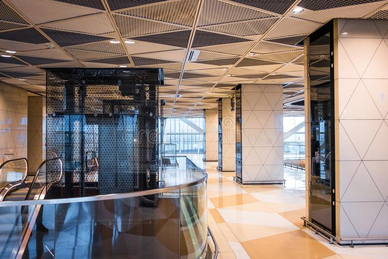 Heydar Aliyev International Airport in Baku royalty-vrije stock afbeelding