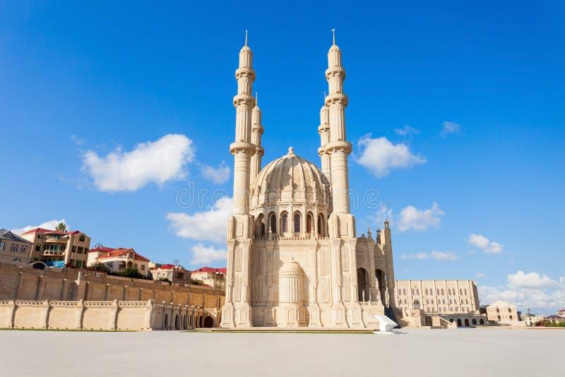 Heydar Mosque i Baku royaltyfri foto