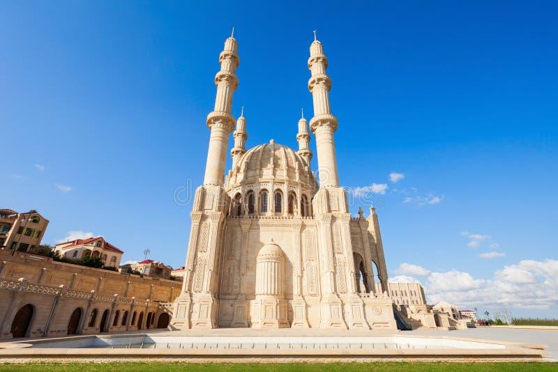 Heydar Mosque i Baku royaltyfri bild